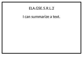 5th grade ELA I Can statements for G.S.E. posters.