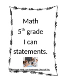 5th grade I can statements