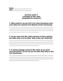 5th grade Journeys (2012)comprehension questions lesson 1 and 2