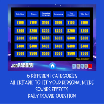 Literacy Jeopardy