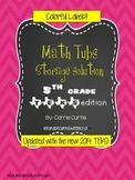 5th grade MATH TEKS  Colorful Organization Labels *updated!