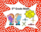 5th grade Math Bell Ringers, Math Centers, Test Prep