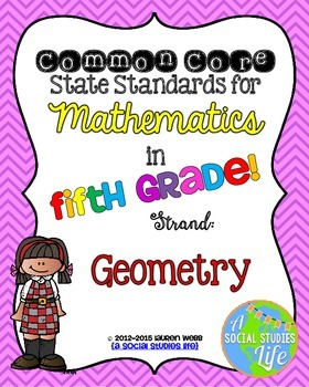 5th grade Math Common Core Standards Posters Geometry