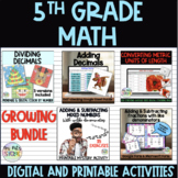 5th grade Math Digital Activities for Distance learning GR