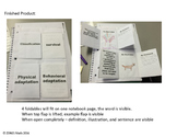 5th Grade Math Interactive Foldable Vocabulary Cards