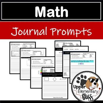 5th grade Math Journal Prompts