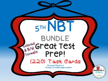 5th grade Math NBT Task Card Test Prep BUNDLE