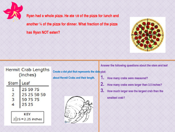 5th grade Math Texas TEKS spiral and review, 6th 6 weeks
