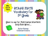 5th grade Math Vocabulary Word Wall - 100+ words