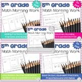 5th grade Morning Work: 5 Month Bundle