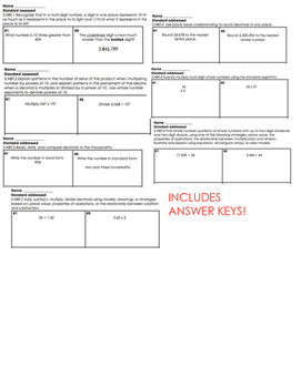 5th grade NBT review bundle!