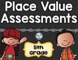 Place Value Tests 5th Grade