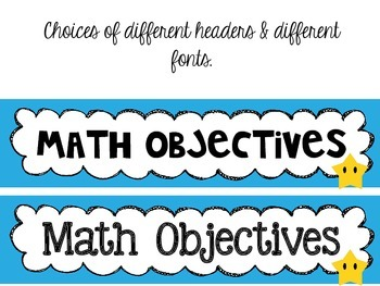 5th grade *New* Math TEKS Posters {white background w/colorful frames}