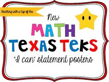5th grade *New* Math TEKS Posters {white background w/colo