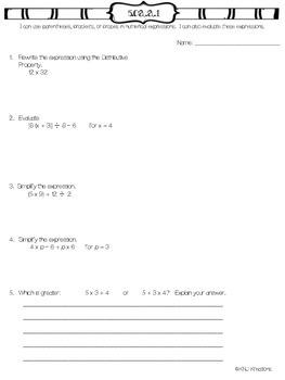 5th grade OA 1 assessment
