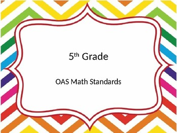 5th grade OAS Math standards