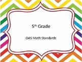 5th grade OAS Math standards