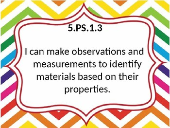 5th grade OAS Science standards