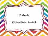 5th grade OAS Social Studies standards