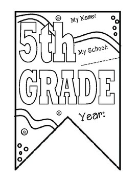5th grade Pennant Banner for Back to School