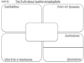5th grade Reading Street Unit 6 Week 1: The Truth About Austin's Amazing Bats