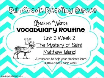 5th grade Reading Street Unit 6 Week 2: The Mystery of St. Matthew Island