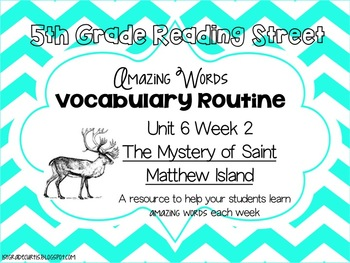 5th grade Reading Street Unit 6 Week 2: The Mystery of St.