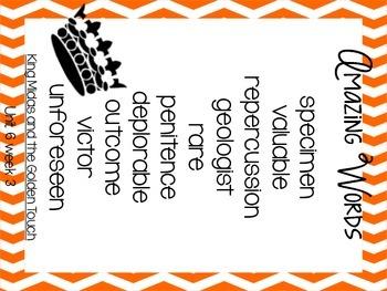 5th grade Reading Street: Unit 6 week 3: King Midas