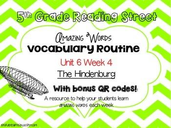 5th grade Reading Street: Unit 6 week 4: The Hindenburg