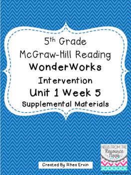 5th grade Reading WonderWorks Supplement- Unit 1 Week 5