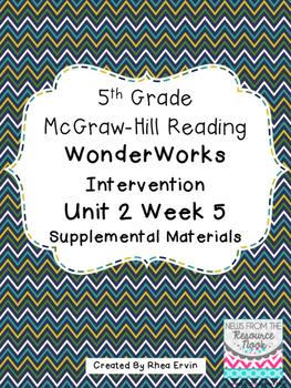 5th grade Reading WonderWorks Supplement- Unit 2 Week 5