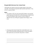 5th grade SBAC Test Prep Math Performance Task: Garden Planter