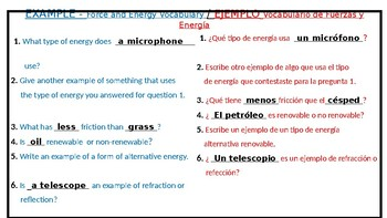5th grade SCIENCE VOCABULARY routines