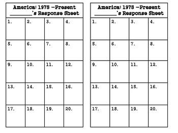 5th grade SS5H9:  America 1975-Present Task Cards