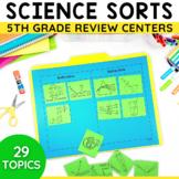 5th grade Science STAAR Review Sorting Activities Bundle