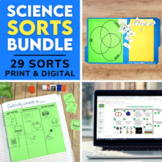 5th Grade Science Sorting Activities   Print and Digital  