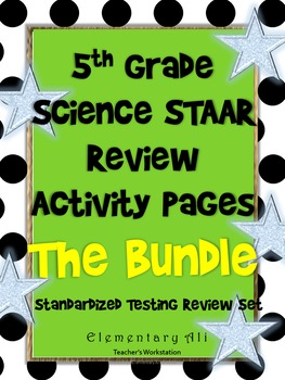 5th grade Science TEKS review Activity Page Bundle