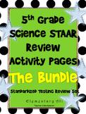 5th grade Science TEKS review Activity Page Bundle