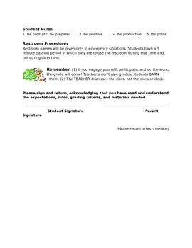 5th grade Science Syllabus