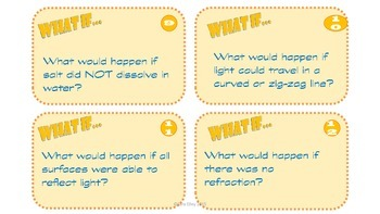 "5th grade Science Year-in-Review ""What If"" Task Cards"
