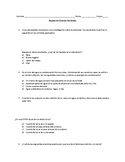 5th grade Science review packet fall Spanish