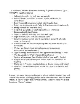 5th grade Senior Science Project