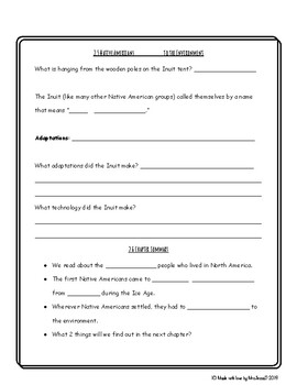 5th grade Social Studies Chapter 2 History Alive! study guide graphic organizer