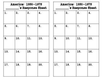 America 1950-1975 Task Cards (GMAS:  SS5H6)