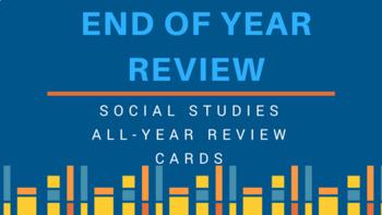 5th grade Social Studies review GAME CARDS