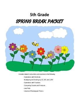 5th Grade Math Spring Break / Reteach Packet
