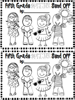 5th grade Summer Send-Off SCOOT and Memory Book~ Classmate Compliments