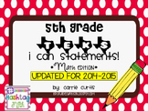"5th grade TEKS ""I can"" statements: Math edition"