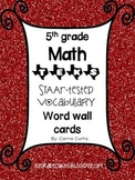 5th grade TEKS Math STAAR tested vocabulary word wall cards