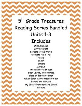 5th grade Treasures Reading Units 1-3 Bundled